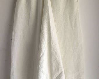 ON SALE White Linen Harem Pants with Side Pockets, Washed Linen Pants, Woman, Man, Unisex, Regular, Tall, Plus size, Custom Made. Big Color