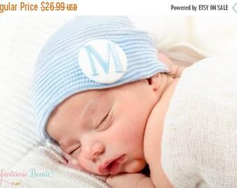 SALE 25% OFF monogrammed baby boy newborn hospital hat monogrammed baby boy monogrammed newborn hat monogrammed newborn hat baby boy boy hat