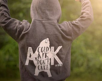 SALE- Cold Air Don't Care Zip Hoodie
