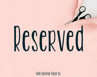 Reserved for Pat