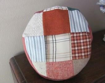 Vintage HANNAH HATS Newsboy Style Patchwork Irish Wool Size XXL