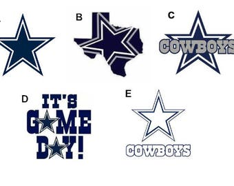 Dallas Cowboys Decal/RTIC YETI  Car Decal, Computer Decal, Window Decal, Cell Phone Decal