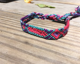 Pink and Turquoise Friendship Bracelet