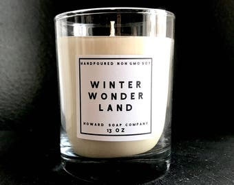 WINTER WONDERLAND>> handpoured soy candle/phthalate free/minnesotamade