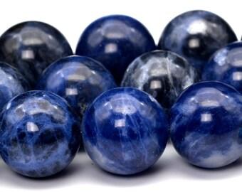"12MM Sodalite Beads Grade AAA Genuine Natural Gemstone Full Strand Round Loose Beads 15"" BULK LOT 1,3,5,10 and 50 (101732-408)"