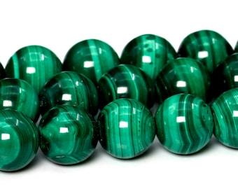 "6MM Malachite Beads South Africa Grade AAA Genuine Natural Gemstone Full Strand Round Loose Beads 15.5"" BULK LOT 1,3,5,10,50 (101764-414)"