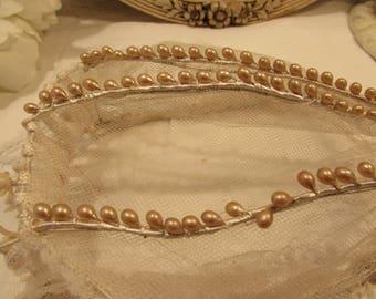 Antique/vintage French bridal crown, tiara, headdress.