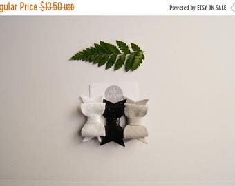 SALE Baby Hair Clip Set in Gray, White, and Black Glitter