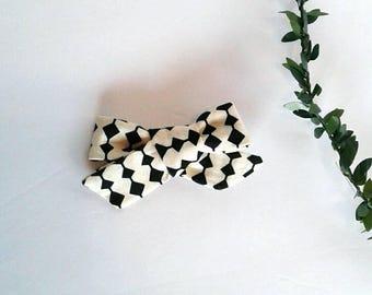 Black cream girls hair bow clip girls vintage modern