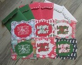 Christmas Blank Note Cards >> set of 6 Blank Note Cards, Blank Cards, Card Set, Stationery, Note Cards, Cards and Envelopes