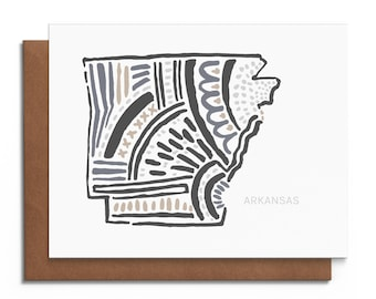Arkansas - Blank Greeting Card - Digitally Printed - A2 Cards w/ envelope - Stationery - Direct Mail
