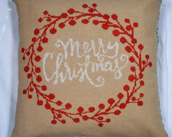 "Merry Christmas Pillows (16"" X 16"") - FINISHED product"