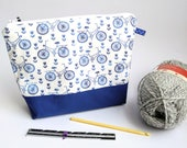 Dutch Project bags. Knitting and Crochet Project Bags, knitting Project Bags / Delft Blue Dutch / Handmade by Dubbele Dutch