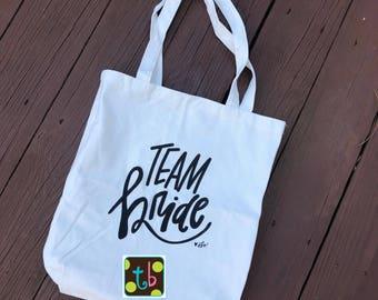 Team Bride Tote Bag Wedding Party Favors Bridesmaid Gift