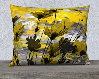 Highlight you decor with this beautiful Yellow throw pillow