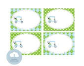 Golf Party Editable Placecards or Food Tents - INSTANT DOWNLOAD - Mirabelle Creations