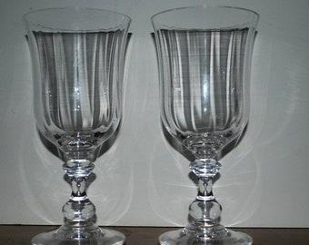 on sale Vintage toasting glasses  water goblets vintage barware