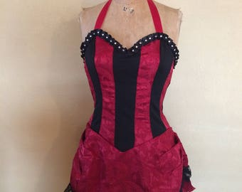 Burlesque Dancer Costume Leg Avenue, Western saloon girl, Moulin Rouge costume, Show girl