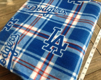 "LA Dodgers Fleece Fabric 78"" by 63"""