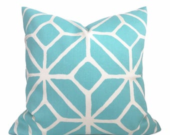 Trina Turk - Schumacher - Decorative Pillow Cushion Cover - Accent Pillow - Throw Pillow - Trellis Aqua Pool - indoor outdoor