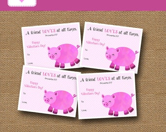 Pig Valentine Etsy   Valentine Pig
