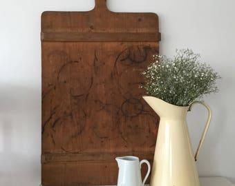 Vintage Bread Board - Antique German Bakery Board - Time Worn Bread Board - Statement Piece Kitchen Decor - Wooden Bread Board