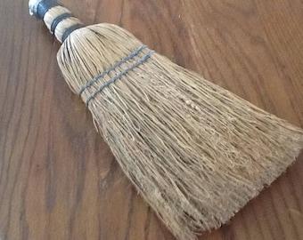 wisk broom straw vintage