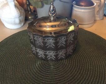 Jewelry Box ,Vintage, Silverplate