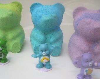 LARGE Bear bath bomb with Care Bear Toy Inside