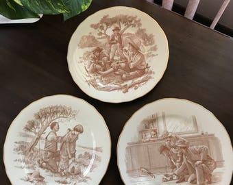 Franklin porcelain Mark Twain plates (3)