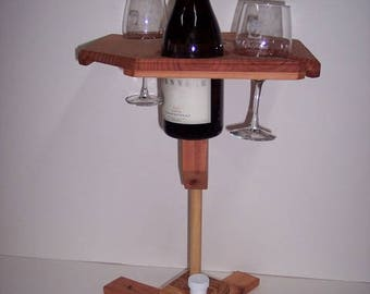 Portable Wine Table With Stand