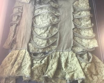 Sale Green burning man skirt