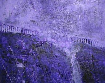 "Abstract Mixed Media Acrylic Modern Art Painting 16"" x 20"""