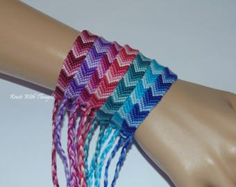 Pick Your Ombre Chevron friendship bracelet Choose From 25 Different Colors