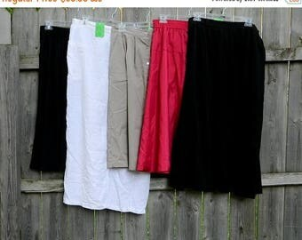 ETSYCIJ Lot of Vintage Skirts / Five Skirts from the 1960s-1980s / Midi Skirts / Pleated Skirts / Vintage Clothing Lot