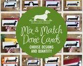 Mix & Match. Long Doxie cartons--(carte romantique, anniversaire, anniversaire, amour, bébé, cartes de Noël, chien, teckel, chien Weiner, sur mesure)