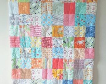 FLASH QUILT SALE Crib Quilt - Baby Quilt - Toddker Quilt - Modern Crib Quilt - Baby Comforter - Mint Quilt