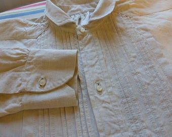 Victorian Linen / Hemp Nightshirt nightgown Mans Antique French  Circa late 1800's