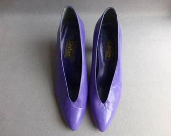 1980s Vintage Purple Derber Pumps/Shoes