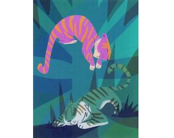 TIGERS! Postcard