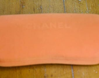 Vintage Chanel Orange Fabric Sunglass Case