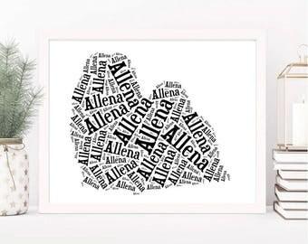 Custom Shih Tzu Art Print | Dog Lover Gifts Shih Tzu | Custom Pet Wall Art | Shih Tzu Dog Wall Decor | Personalized Dog Art | Pet Memorial