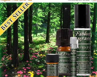 SALE ENCHANTED FOREST - Perfume Oil with Magnolia, Wisteria, Neroli, Hyacinth, Oakmoss, Cedarwood - Vegan Solid Perfume, Ships Out in 5-7 Da
