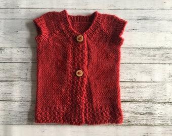 hand knit child cardigan 6-12 months