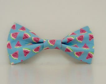 Watermelon Summer Blue Pink Dog Bow Tie Wedding Accessories Made to Order