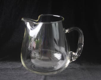 Vintage Clear Glass Water Juice Pitcher Ice Tea Pitcher