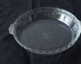 "Vintage Pyrex Pie Plate Baking Dish 229  9.5"" Fluted Edges #2"