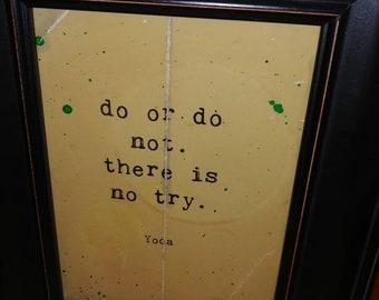 Star Wars quote yoda