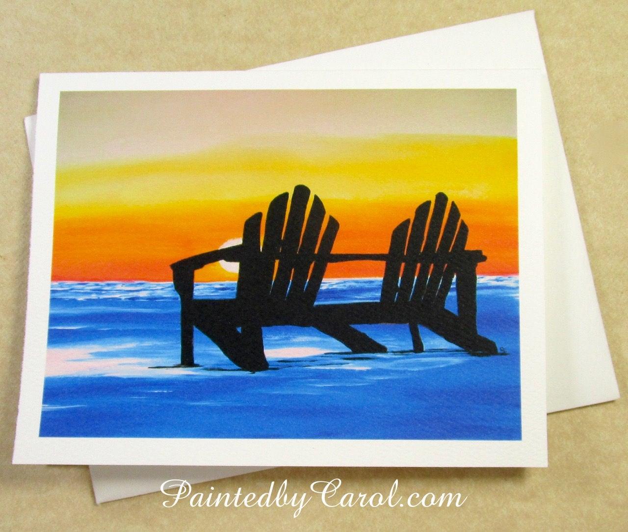 Beach sunset note cards blank beach sunset note card set zoom kristyandbryce Gallery