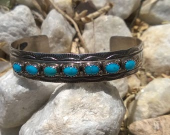 Sleeping Beauty Turquoise Bracelet By J. Bahe From The 1990's